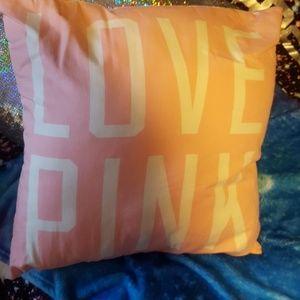 Vs Pink chevron pillow